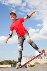 little girl -  skateboarder