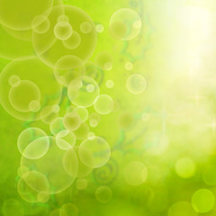 Floral abstract green background