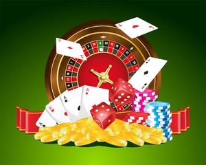 Gambling vector illustration