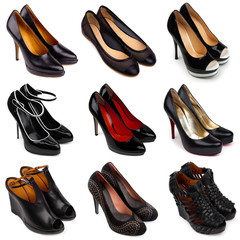 Dark female shoes-1