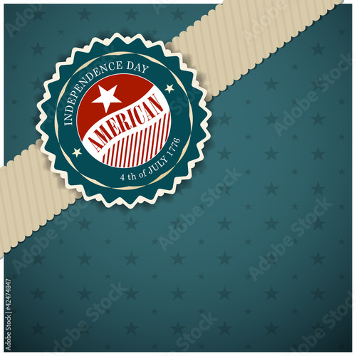 Greeting card design for Independence day, Vector