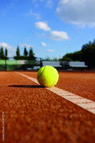 Leinwandbild Motiv Tennisplatz