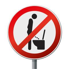 Sticker/Schild Verbot im stehen pinkeln