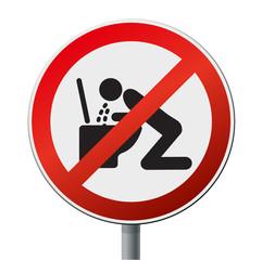 Sticker/Schild Verbot Erbrechen
