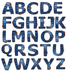 Denim alphabet