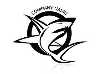 The vector Bad Shark circle logo