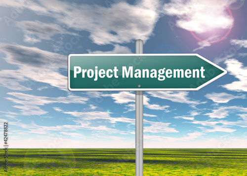 """Signpost """"Project Management"""""""