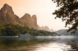 Fototapety Croisière sur la rivière Li près de Guilin - Guangxi, China