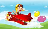 Monkey in a plane