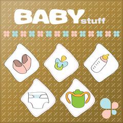 Baby stuff illustration