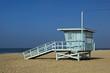 Lifeguard observation tower station at Santa Monica beach