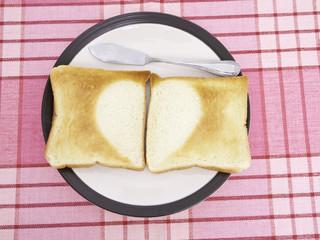 Half Heart Toast