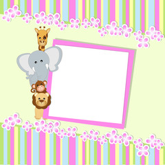 baby shower - bambina - place your text