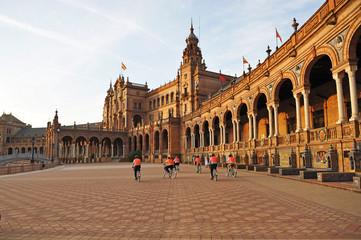 Plaza de España en bicicleta