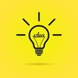 Effective thinking concept – bulb icon with innovation idea.