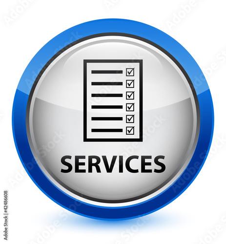 Services blue button