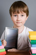 Boy with e-book