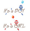 Boy and girl celebration twig text