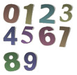 Numbers and letters collection, vintage alphabet based on newspa