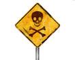 Señal amarilla peligro de muerte