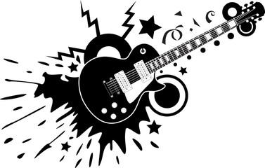 guitar black vector