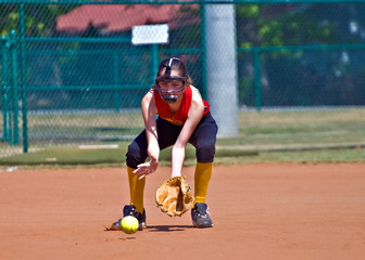 Preteen Softball Player
