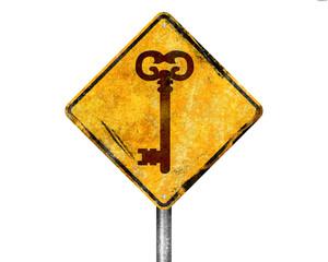 Señal amarilla llave