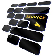 Service auf Tastatur