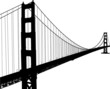 Silhouette of golden gate bridge - 42492203