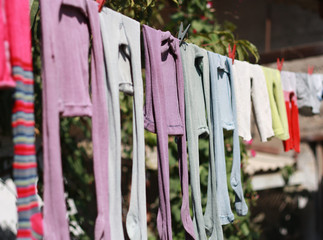 Children's tights for drying