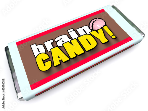 Brain Candy Chocolate Bar Wrapper Stimulate Ideas