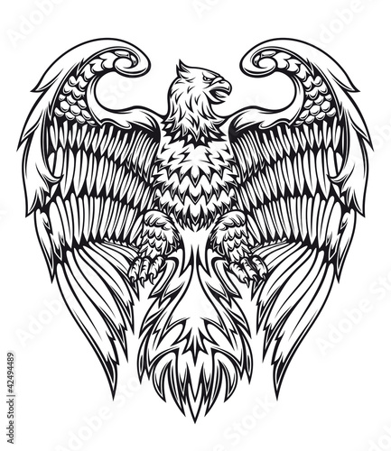 Powerful eagle or griffin