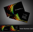 abstract black bright colorful business card set vector