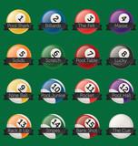 Vector Set: Billiards Banner Labels