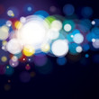Abstract lighting background, bokeh blue.