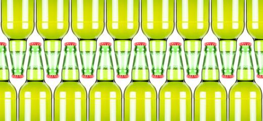 Row of beer bottles.XXL-size