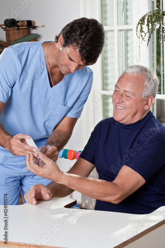 Doctor taking a Blood Sample