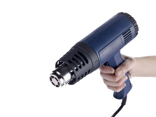 person holding a blowtorch
