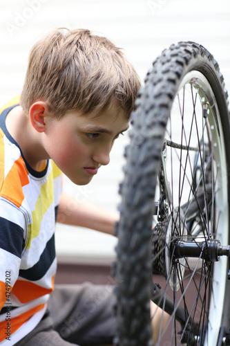 Deurstickers Bike repair