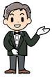 Concierge - man - right instruction