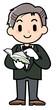 Concierge - man - reading