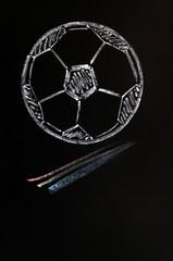 Chalk drawing of Football
