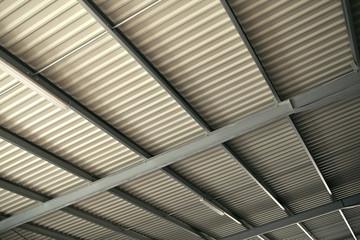 Toit, plafond, aluminium, chai, poutre, construction, industrie