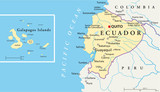 Ecuador and Galapagos Islands - Map