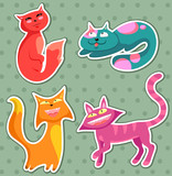 collection of cartoon cats