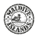 Maldive Islands rubber stamp
