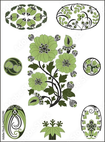Art Nouveau Floral Patterns And Stencil Designs In Full Color Art