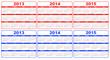 calendar 2013-2015, vector
