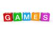 Games cubes 3d render illustration