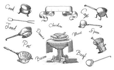 Kitchen theme illustration